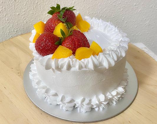 STRAWBERRY & PEACH CAKE