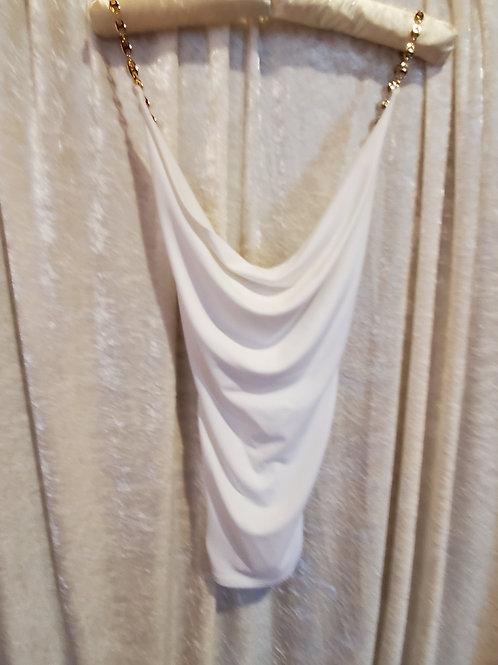White Jeweled Sleeveless Blouse