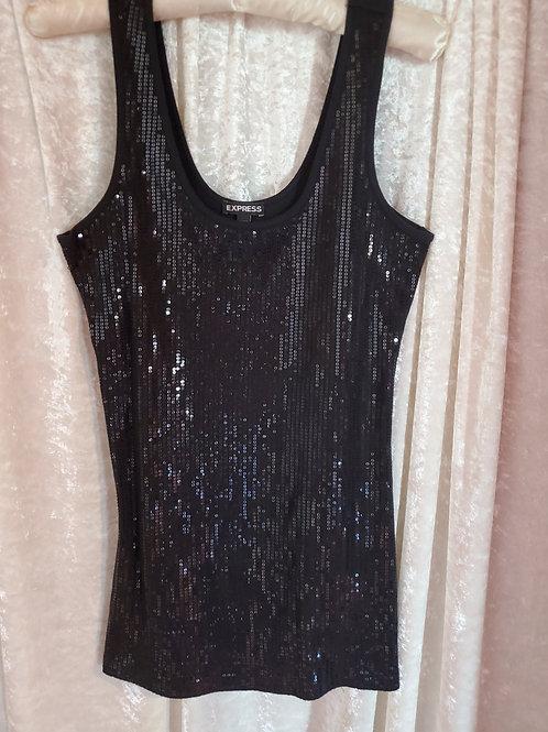 Black Glittery Top