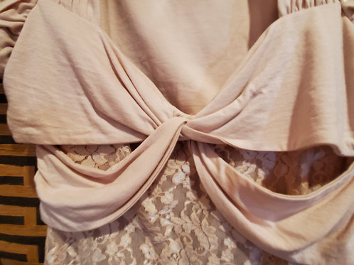 Light Pink Lace Top with Sachs