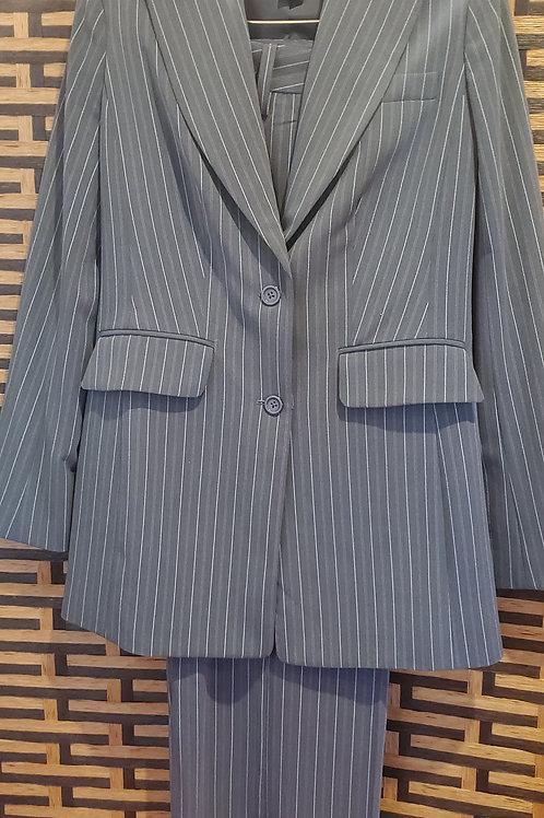 Grey with pink & White Pinstripe Jacket