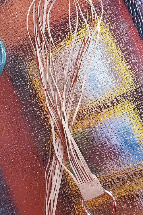 Genuine Beige Suede Rope Belt