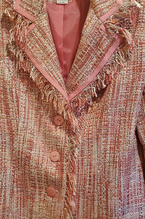 Short Fringed Pink Tween Jacket