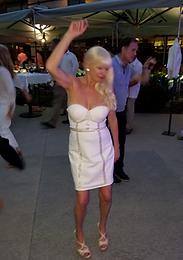 Linda Dancing in Evening Dress
