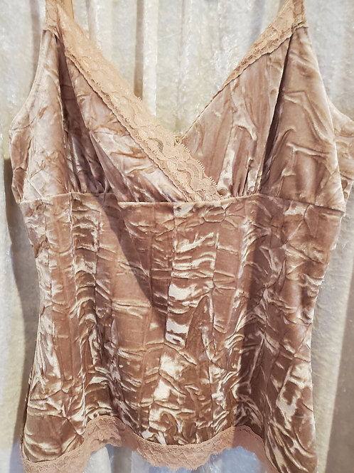 Velvet Beige with Lace top