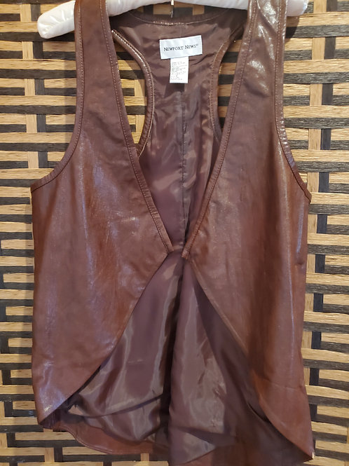 Real Leather Brown Vest