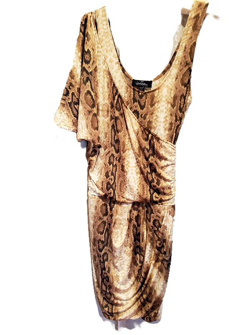 Amazing Multi Animal Print Dress with a Scarf Attachment.