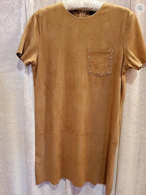 Mocha Faux Suede Dress/Tunic