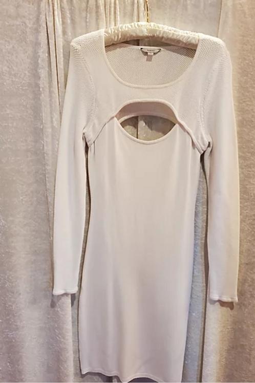 White Cutout Sweater Dress.