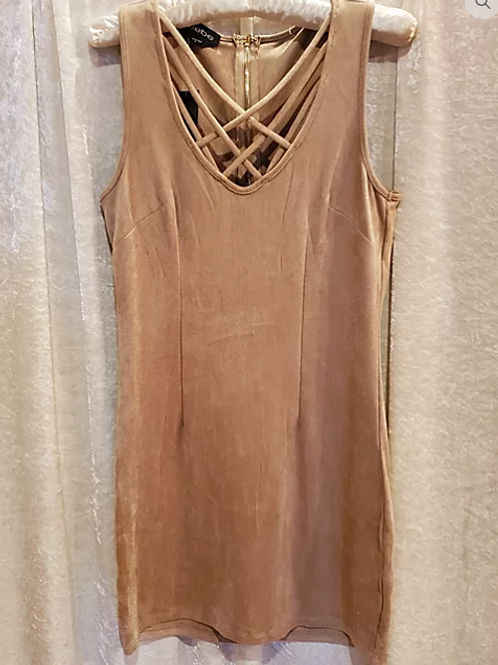 Mocha Faux Suede Mini Dress.