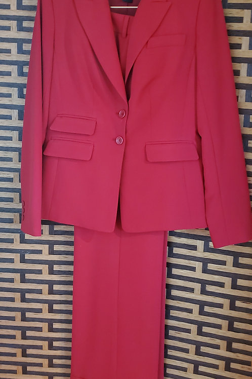 Lipstick Red Pants Suit