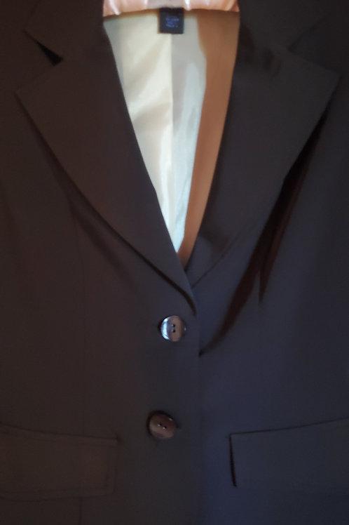 Short Black Jacket with Satin Light Green Lining
