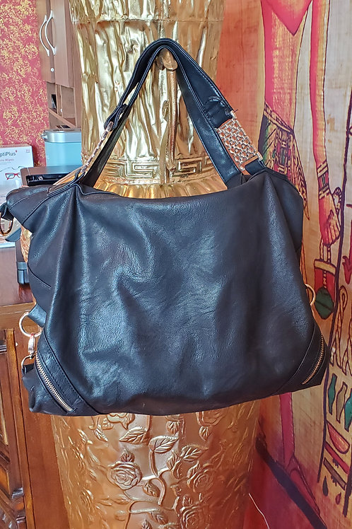 Genuine Black Leather Tote or Satchel.