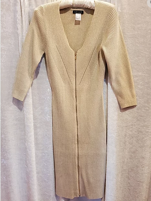 Gold Knit with Glitz Maxi Dress.