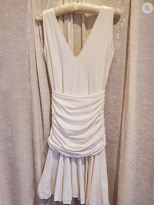 White Backless Summer Dress.