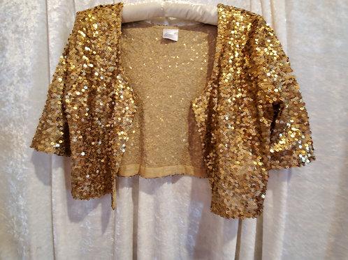 Glittery Gold Short Jacket