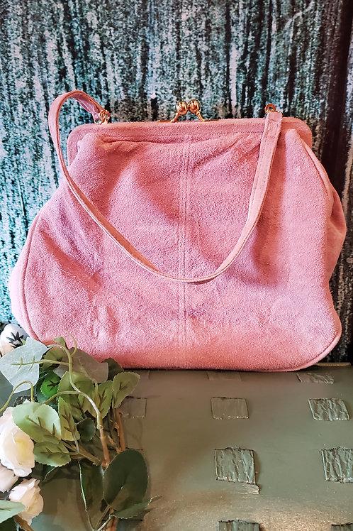 Newport News Pink Suede Hand Bag