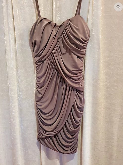 Taupe Ruched Dress.