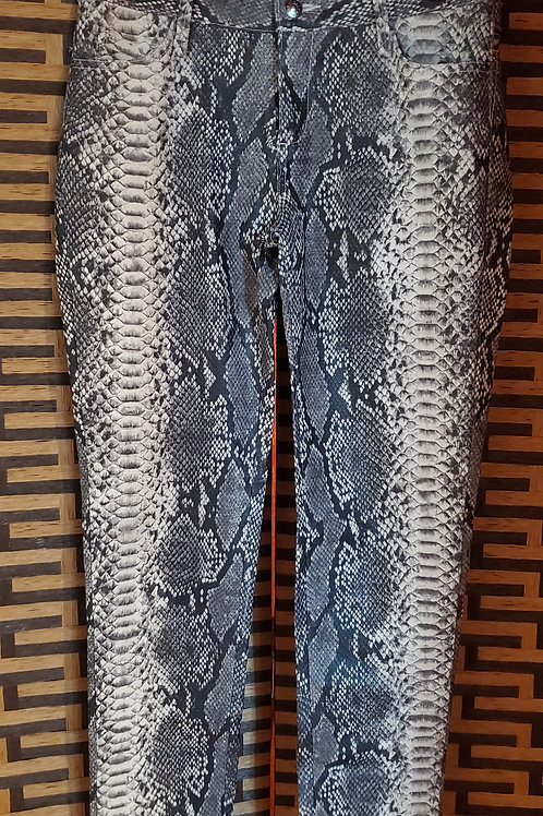 Snake Faux Leather Jeans