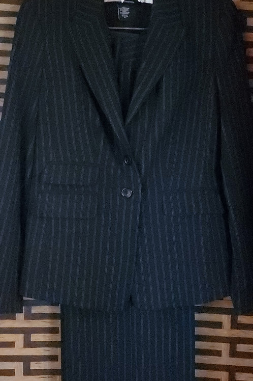 Dark Blue with White Pinstripe Pants Suit