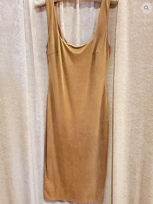 Mocha Faux Suede Dress.
