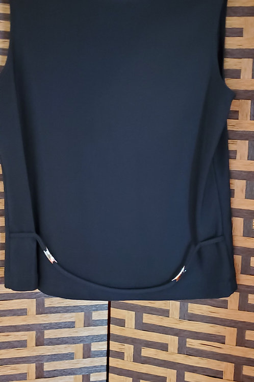 Black Belted Blouse