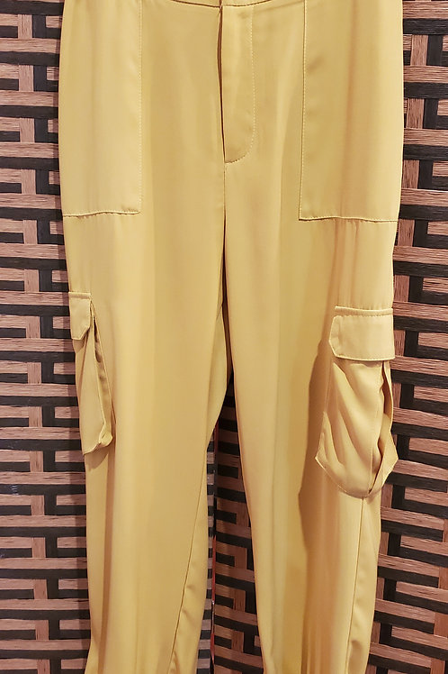 Yellow Cargo Pant