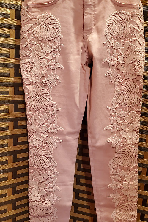 Pink Classy Lace Jeans