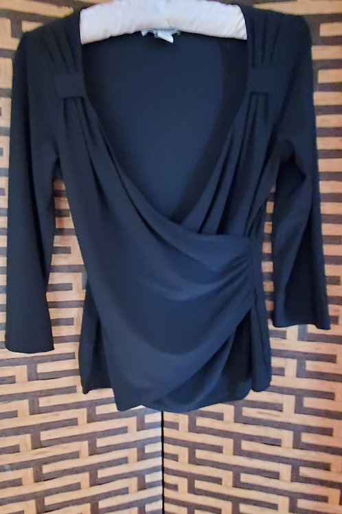 Black Scoop Blouse