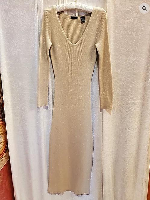 Gold Metallic Maxi Dress.