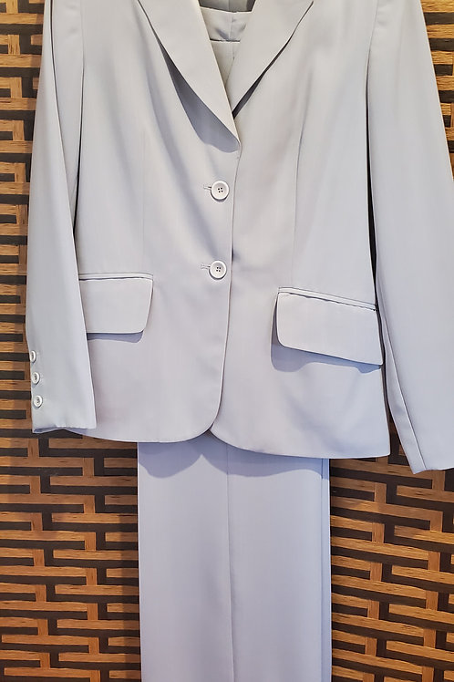 Italian Baby Blue White Pinstripe Pants Suit