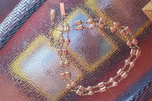Gold Metal Chain Belt / Size Medium