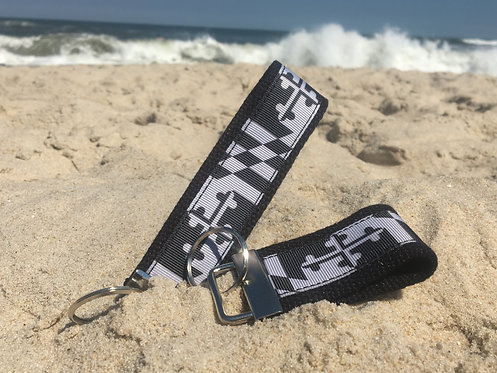 Gray Maryland Flag Key Chain