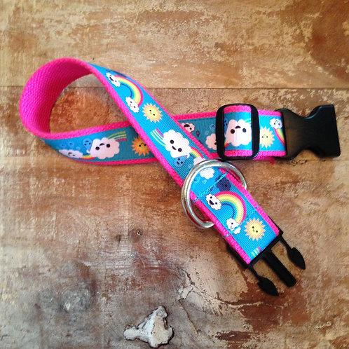 Rainbow Clouds Dog Collar & Leash
