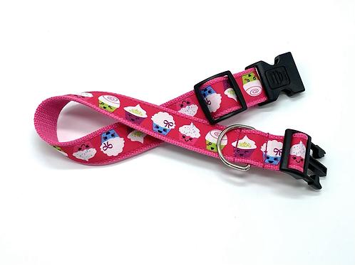 1 1/4 inch Cupcakes Dog Collar or Leash
