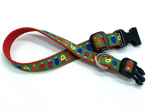 "3/4"" Christmas Lights Collar or Leash"