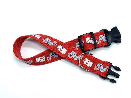 1 1/4 inch Be My Valentine Dog Collar or Leash