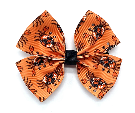 Happy Orioles Maryland Flag Crab Hair Bow
