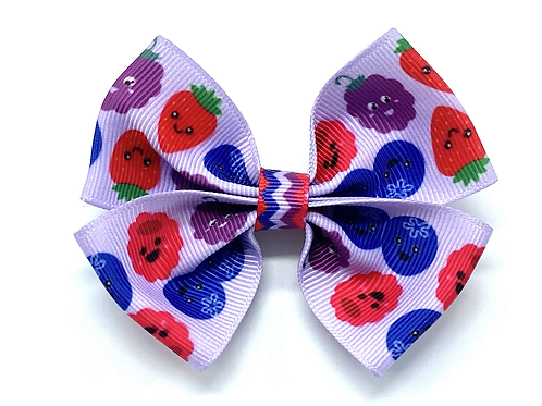 Berry Bunch Dog Bow Tie
