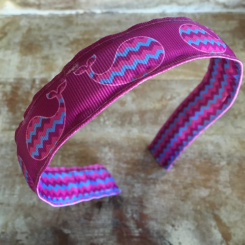 Purple Whale Chevron Headband