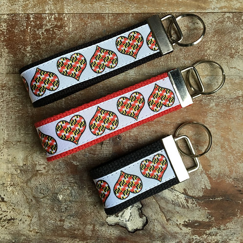 Maryland Flag Hearts Key Chain
