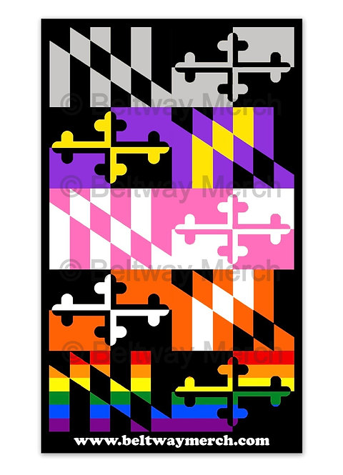 Multi Maryland Flag Sticker
