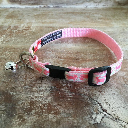 Pink Crab Cat Collar