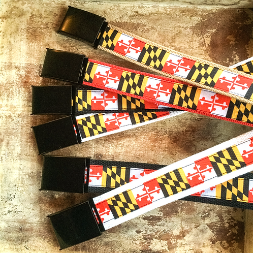 Traditional Maryland Flag Belt