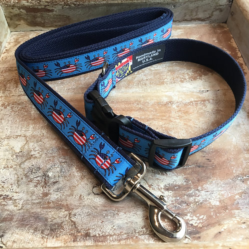 4th of july collar and leash
