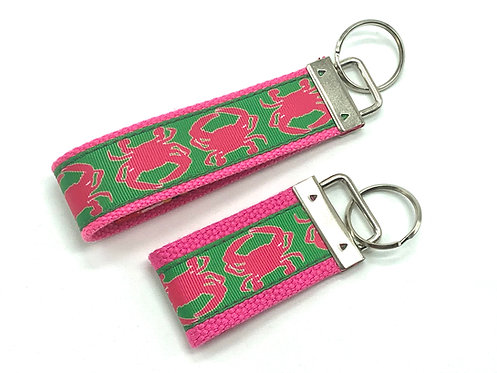 Preppy Pink Crab Key Chain