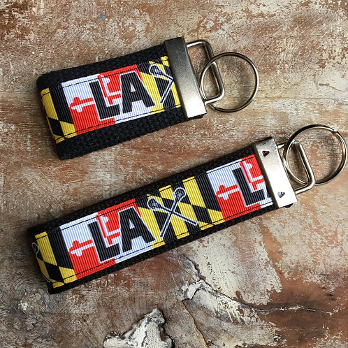Maryland Flag Lacrosse Key Chain