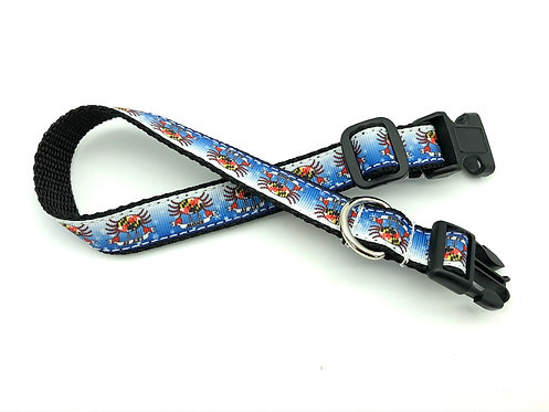 """LET IT SNOW"" Crabs Dog Collar"