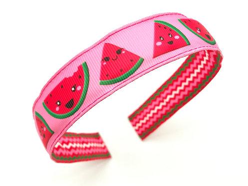 happy kawaii pink watermelon headband