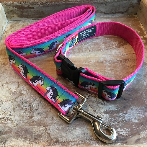 Unicorn Dog Collar & Leash